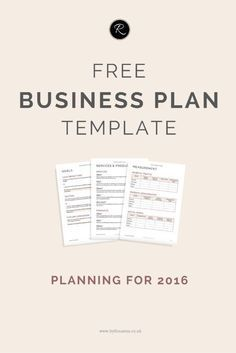 A business plan for 2016 free business plan business entrepreneur a business plan for 2016 wajeb Images