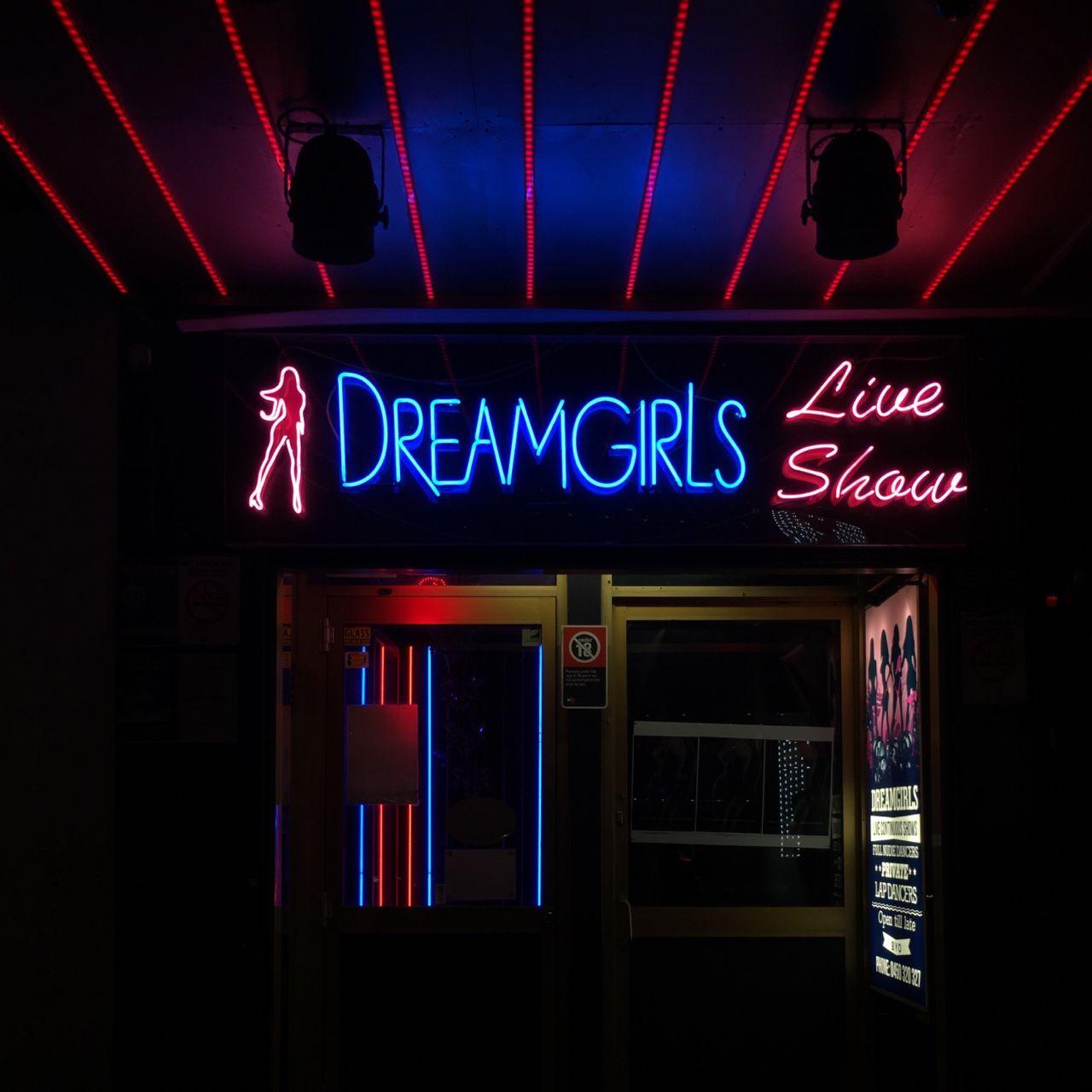 Dream girls. Kings Cross iconic neon. Still lit up. Neon