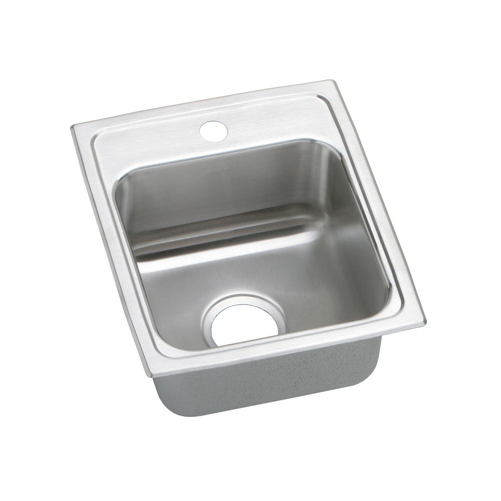 Elkay Lustertone Drop In Stainless Steel 15 In 1 Hole Single Bowl