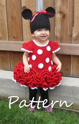 Minnie Mouse Dress and Ears pattern by Julie Robertson | Vestidos ...