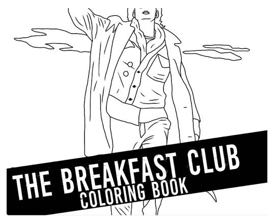 The Breakfast Club, coloring book, printable, jpg files
