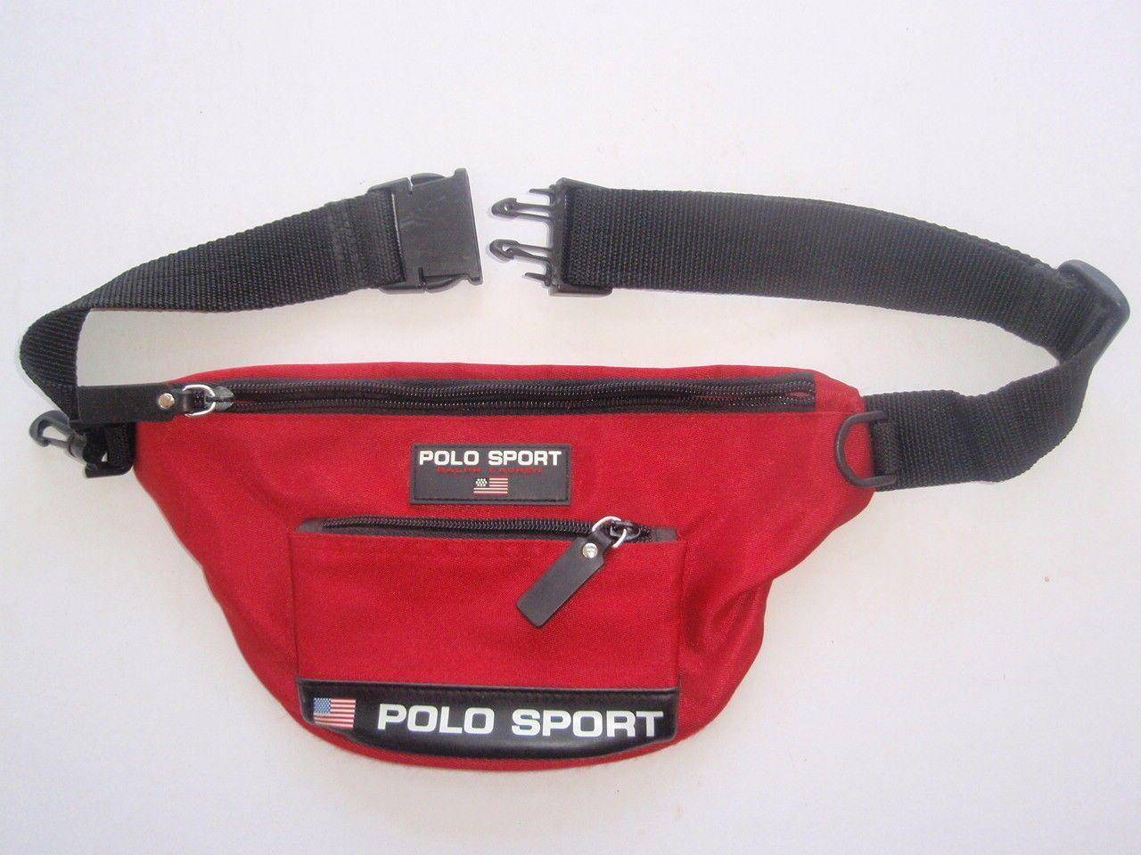 b404e1dc1f Vtg Ralph Lauren Polo Sport Fanny Pack Red Rare 90s