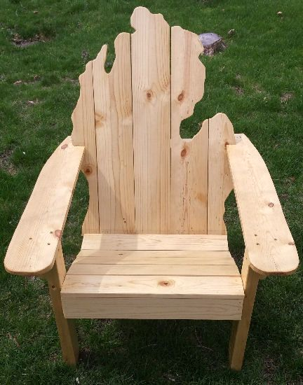 Superieur Wooden Michigan Adirondack Chair | PicWood USA Adirondack Chair Kits, Wooden  Adirondack Chairs, Wooden