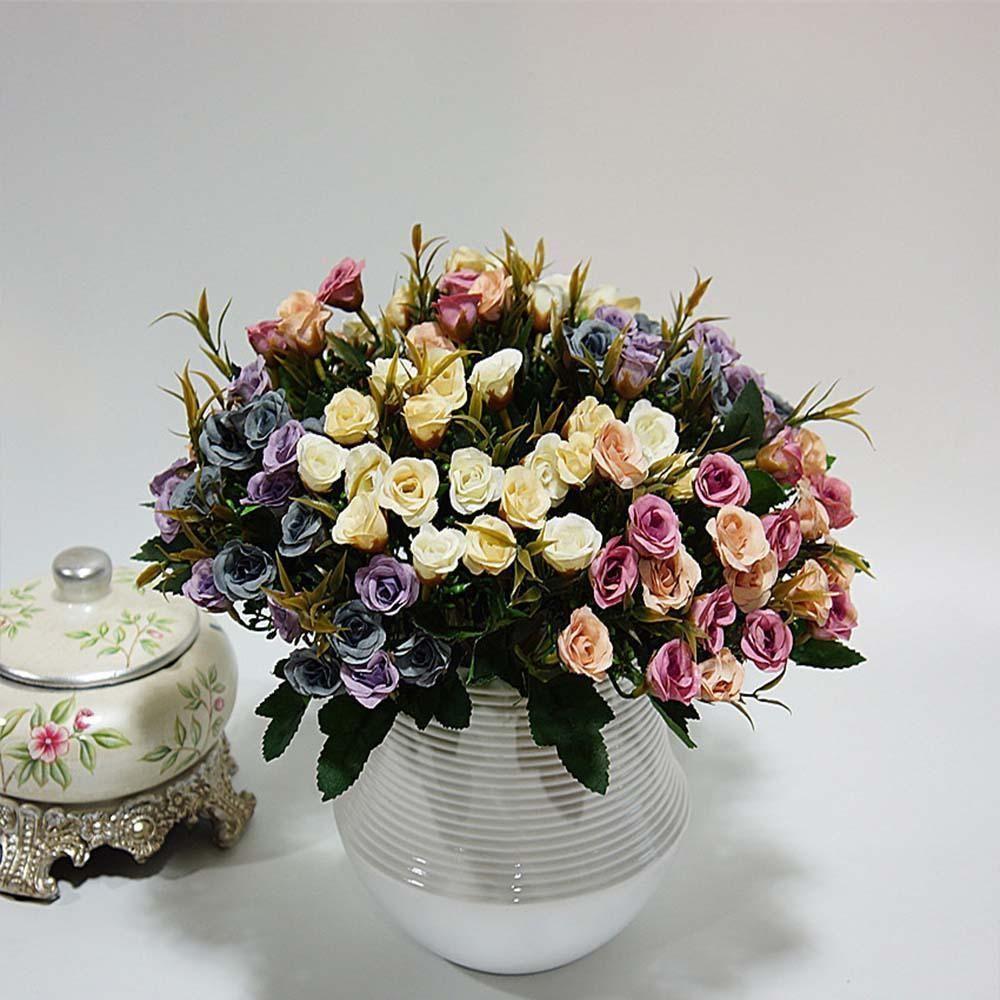 20 Heads Artificial Flowers Cheap For Home Ornamental Flowerpot