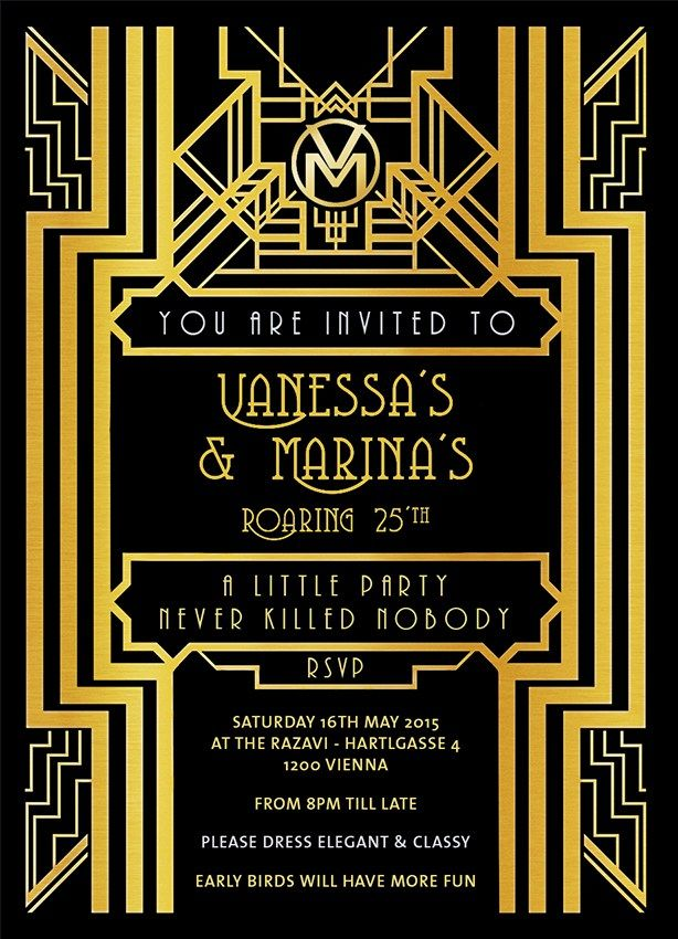 Gatsby Party Invitation | INSPO x How to throw a Party like Gatsby ...