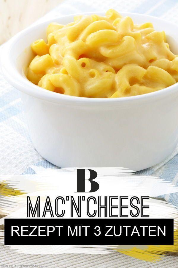 Ruckzuck-Rezept: Macaroni and Cheese - Für diese Nudeln braucht ihr nur 3 Zutaten. Mac'n'Cheese ist herrliches Soulfood - und ihr könnt sie mit nur drei Zutaten schnell selber machen. Genau das richtige Käse-Makkaroni Rezept für den Feierabend! #käse #rezeptmitkäse #macarono #macncheese