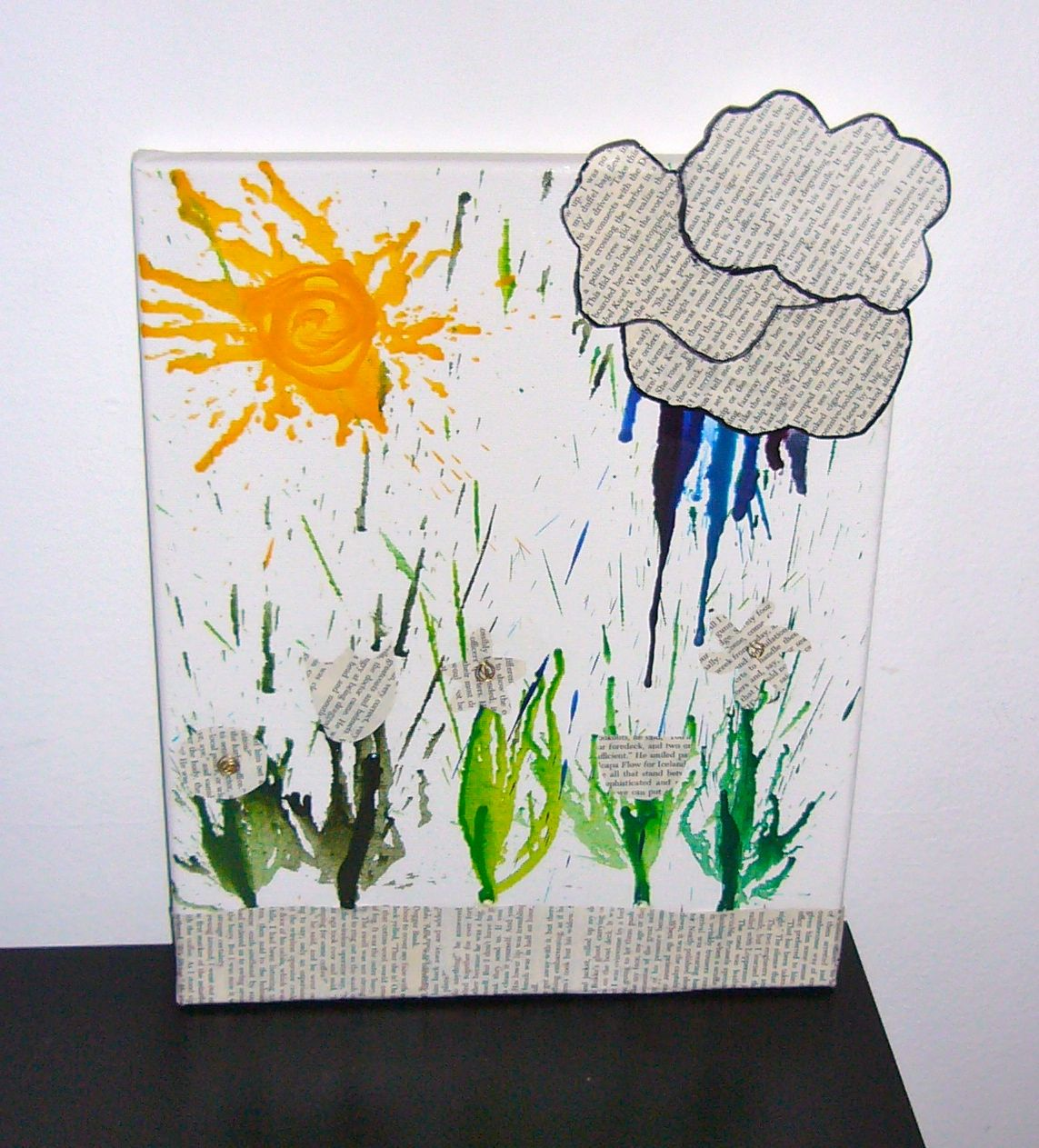 I made this! crayon idea comes to life. my cheesy thoughts were: Reading makes me grow, cry, and be brilliant like the sun.