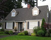 1947 Beige House With Black Or Gray Shutters Tan House Exterior