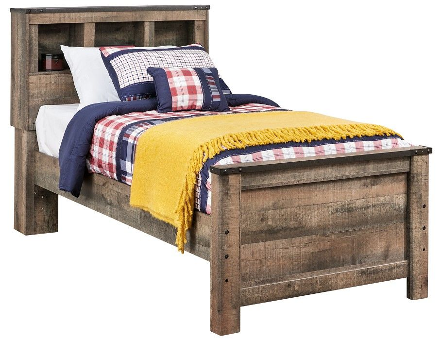 Slumberland | Trinell Collection - Rustic Full Bookcase Bedstead ...