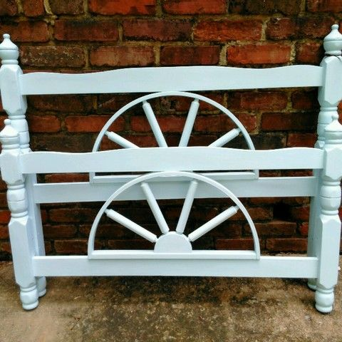 Blue chalk painted twin head and foot boards I have the side rails