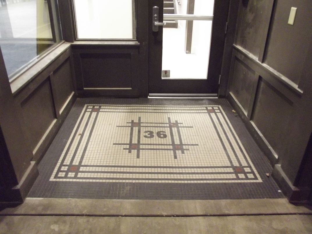 Product: Tiled entryway at Downtown Knoxville Classic Victorian ...