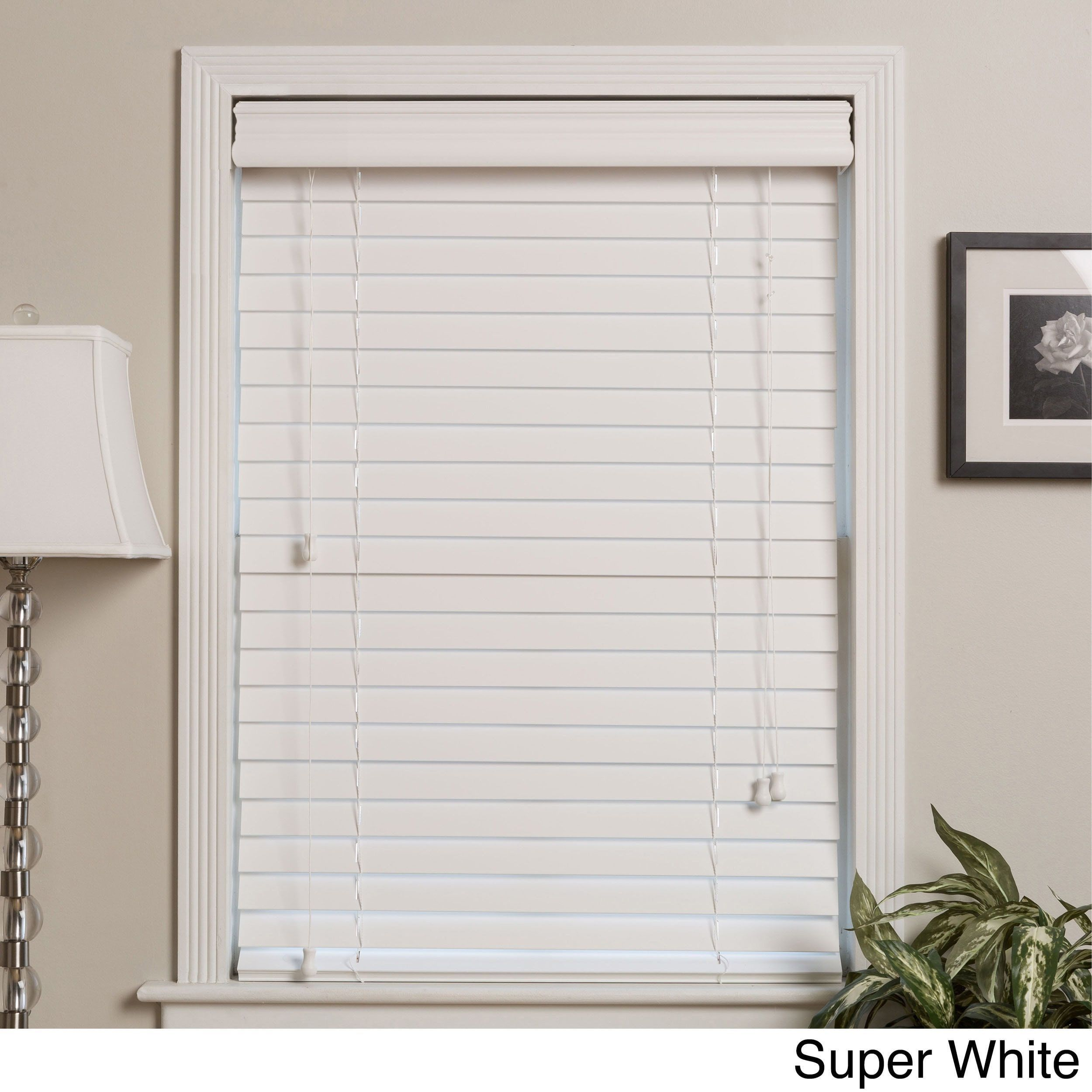Arlo Blinds Customized Real Wood 42-inch Window Blinds (42 x 50 - 40 ...