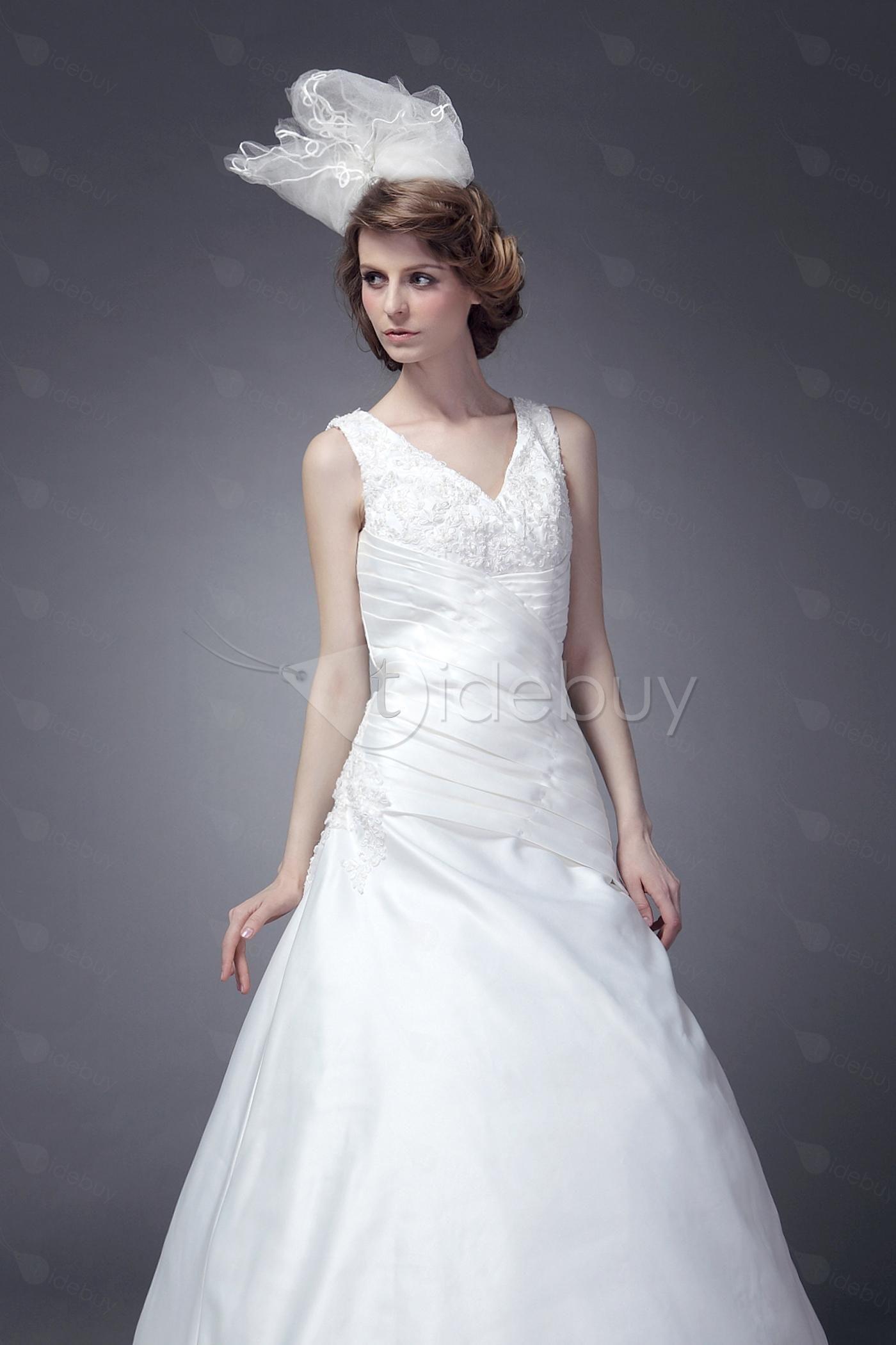 Pretty ALine/Princess VNeck Chapel Maria's Bridal Gown