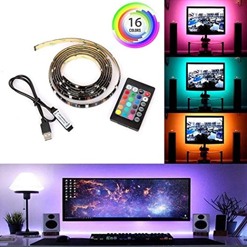 Pongaps Computer Fernseher Hintergrundbeleuchtung 24 Tasten Fernbedienung Led Lichtleis Led Streifen B In 2020 Led Streifen Streifenbeleuchtung Hintergrundbeleuchtung