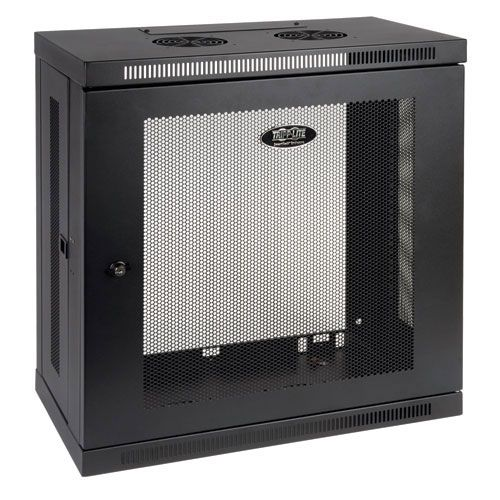 Smartrack 12u Low Profile Patch Depth Wall Mount Rack Enclosure Cabinet With Images Wall Mount Rack Wall Mounted Cabinet Wall Mounted Tv