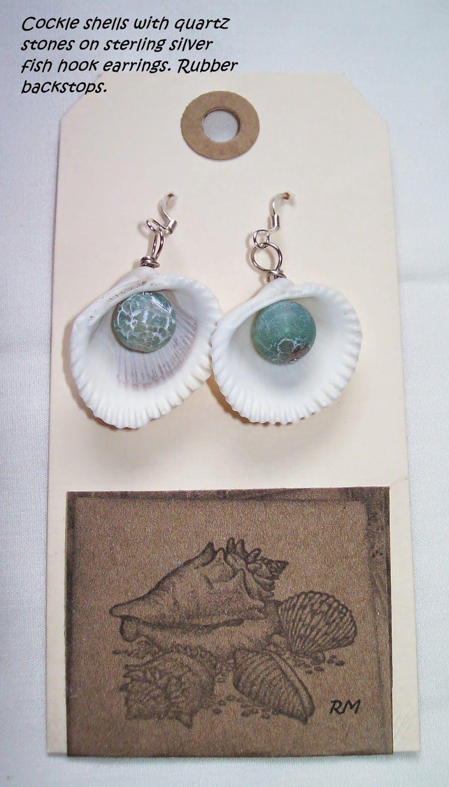 Southern OOAKS  original shell earring design.