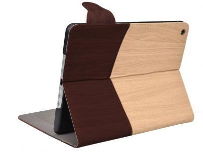 Capa para Mini iPad Couro Tabaco e Madeira Wood - Geonav com as melhores condições você encontra no Magazine 233435antonio. Confira!