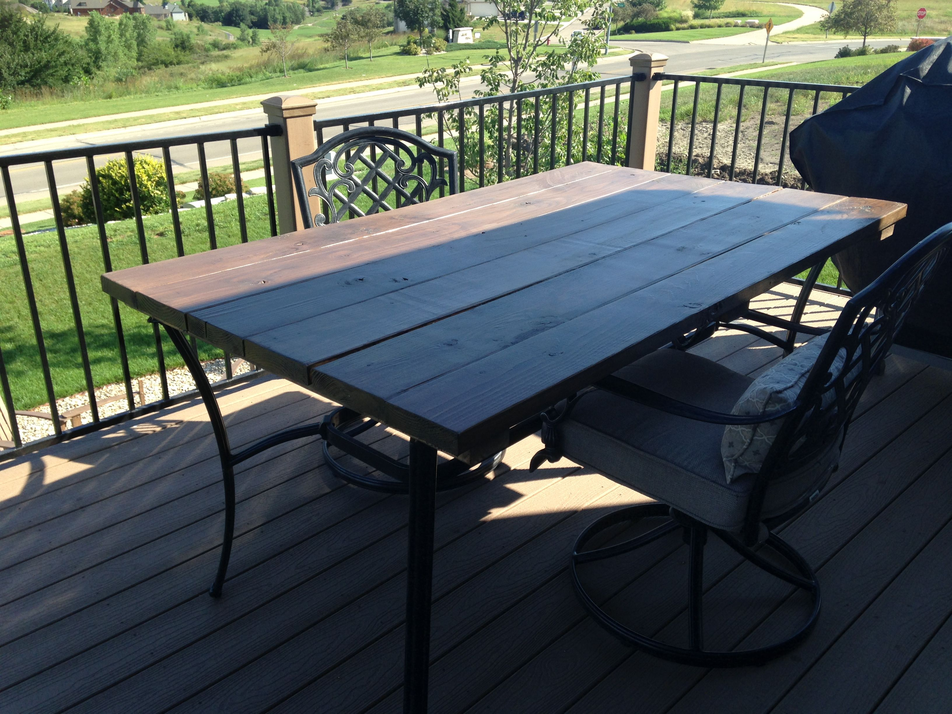 Pin By Dell Claypool Upp On Diy Diy Patio Table Outdoor Table Tops Wood Patio Table
