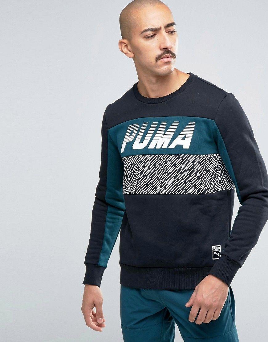 Image 1 - Puma - Speed Font - Sweat ras de cou - Noir 57160101 · Men's  SweatshirtsMen's ...