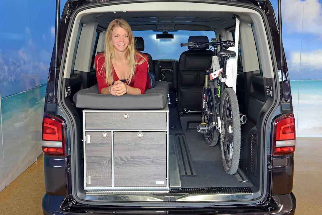 biker bed option for vw t5 and t6 multivan single bed volkswagen vw t5 campervan. Black Bedroom Furniture Sets. Home Design Ideas