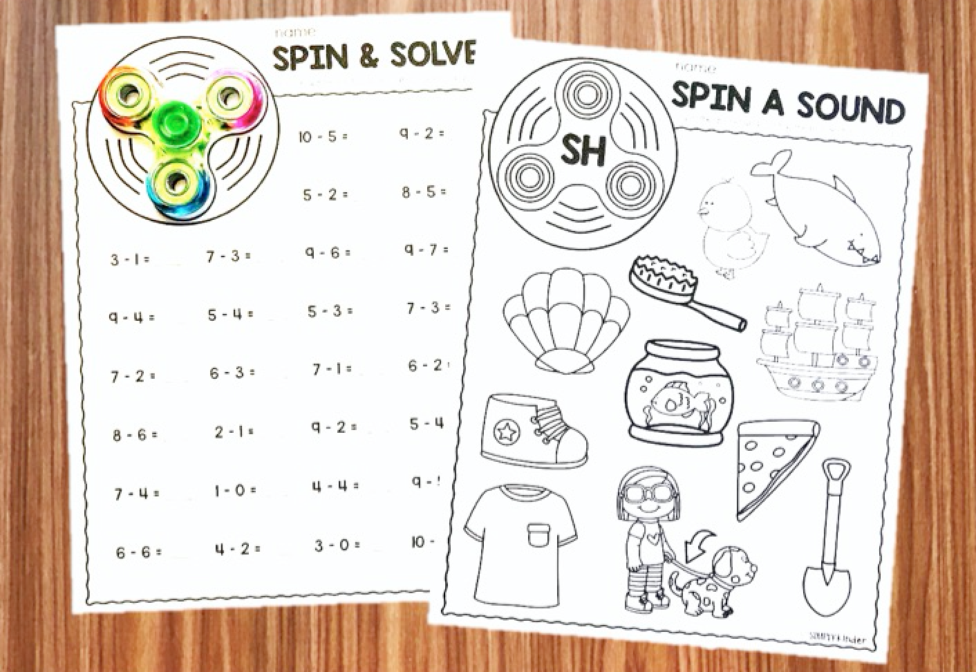 Fidget Spinner Activities For Kindergarten
