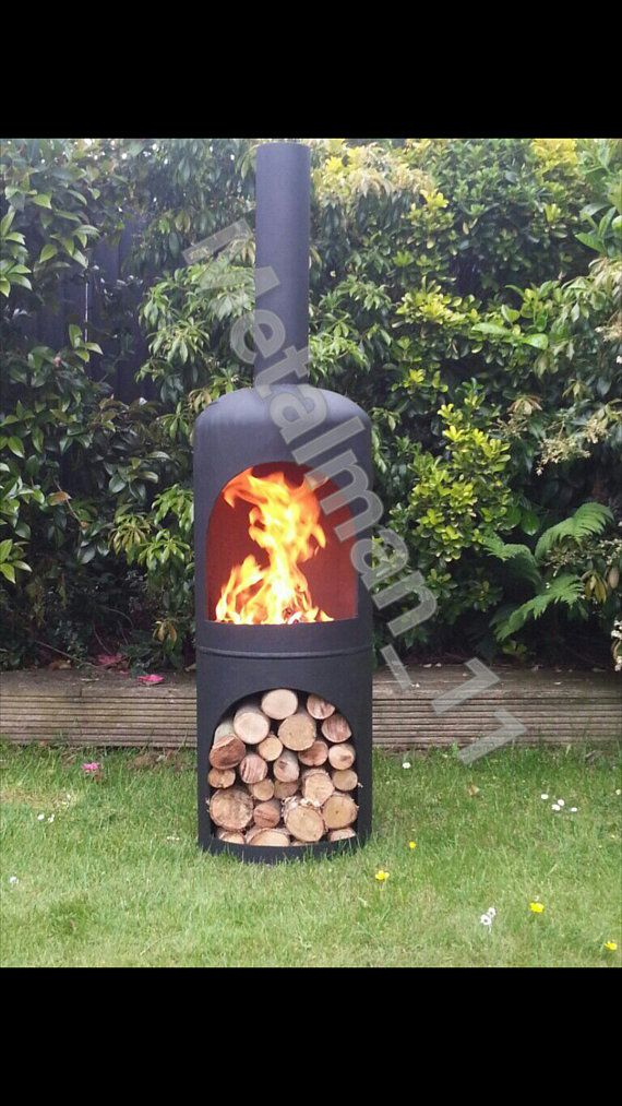 Chiminea Firepit Log Burner Wood Burner In 2019 Hand
