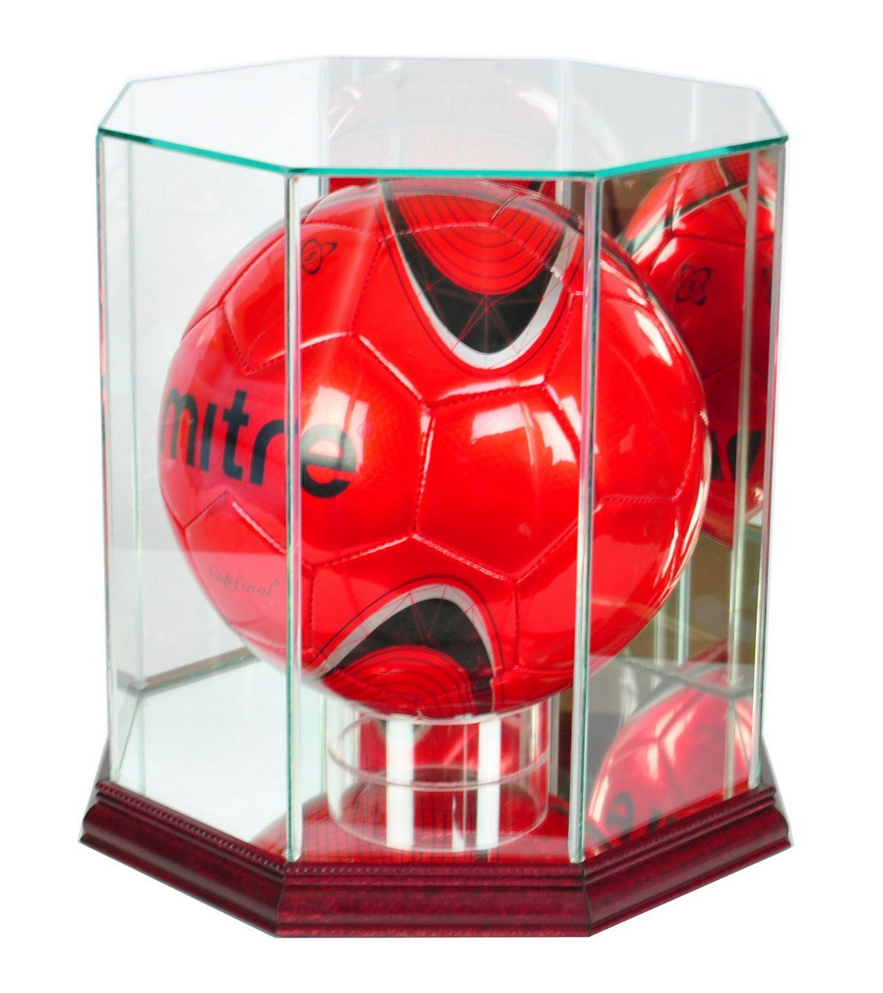 Octagon Soccer Ball Display Case With Mirrors Display Case Soccer Ball Display