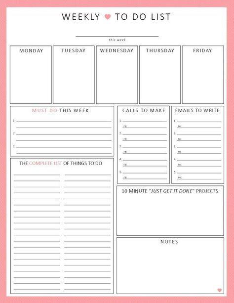 Photo of Weekly Planner Printable   printable worksheet, weekly agenda, minimal planner, digital planner, undated planner inserts, printable inserts