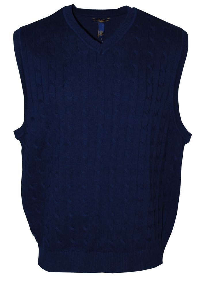 Club Room Mens Knit V-Neck Sweater Vest