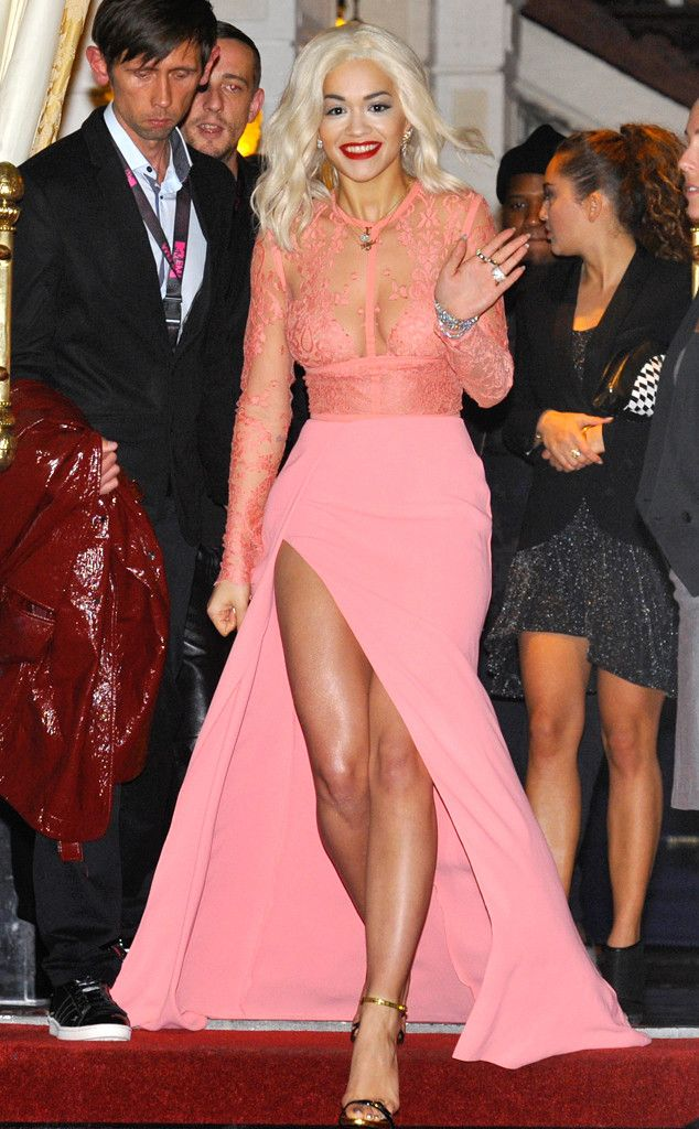 6fce4288f64335 Rita Ora Gives Us a Peep Show in Pink Elie Saab Design | E! Online Mobile