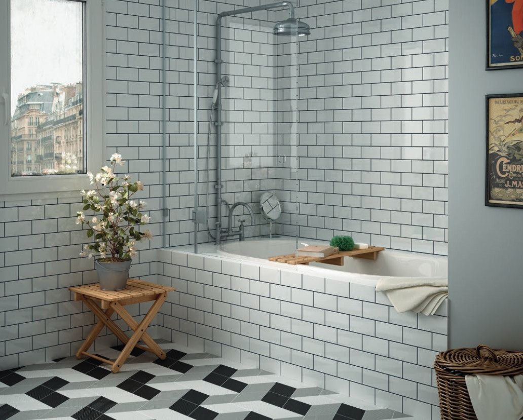 Image6 bathroom vonia pinterest patchwork tiles metro rhombus white is a porcelain tile with various designs all the designs are the white rhombus shape dailygadgetfo Choice Image
