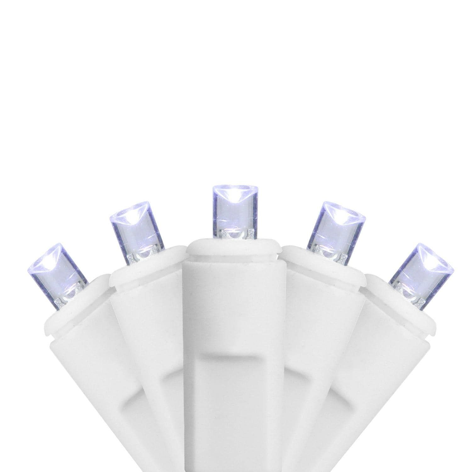Sienna Set of 70 Cool White LED Twinkling Commercial Wide Angle ...