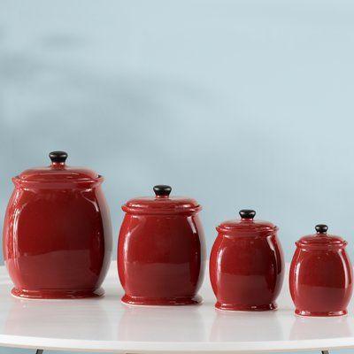 Wayfair Basics Wayfair Basics 4 Piece Storage Jar Set Jar