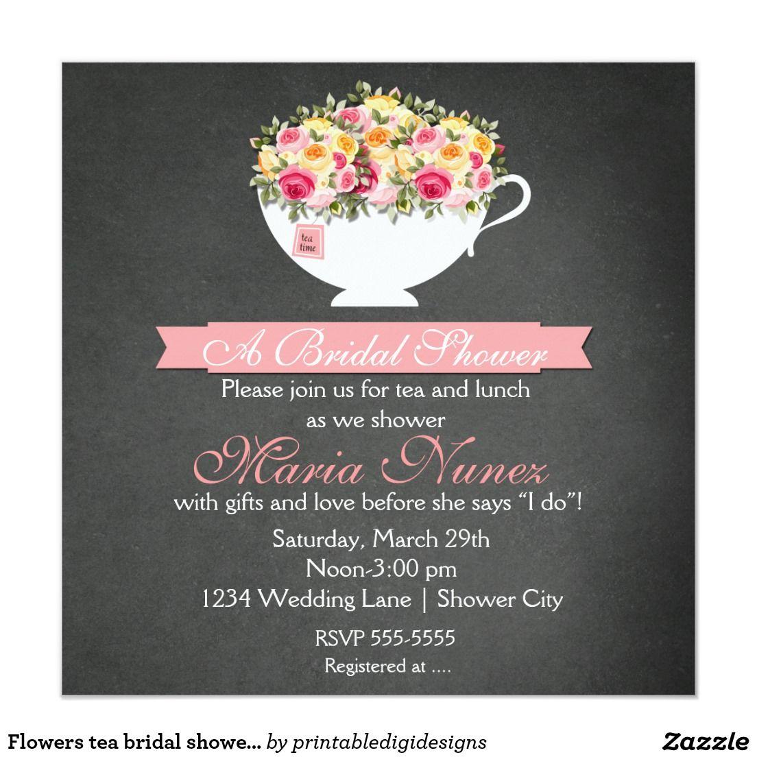 bridal shower floral tea party modern rustic card bridal shower chalkboard tea bridal showers and chalkboard bridal showers