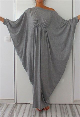 GREY MAXI ABAYA DRESS   SOFT ELASTIC COTTON SPRING DRESS  f4a9cb7613