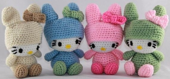 Crochet Hello Kitty free pattern amigurumi | Amigurumi Space | 266x570