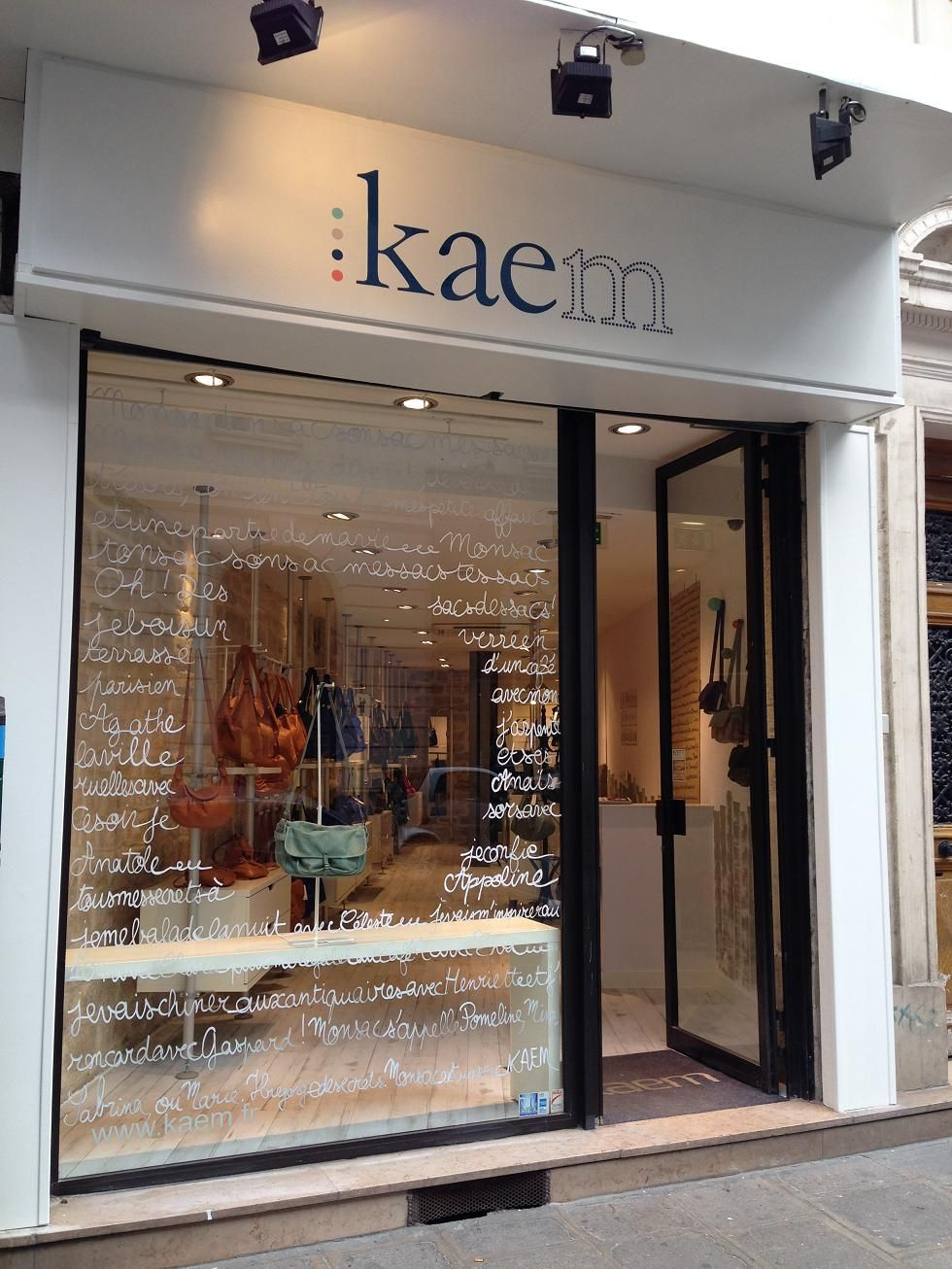 Boutique Kaem, 12 rue montmartre...