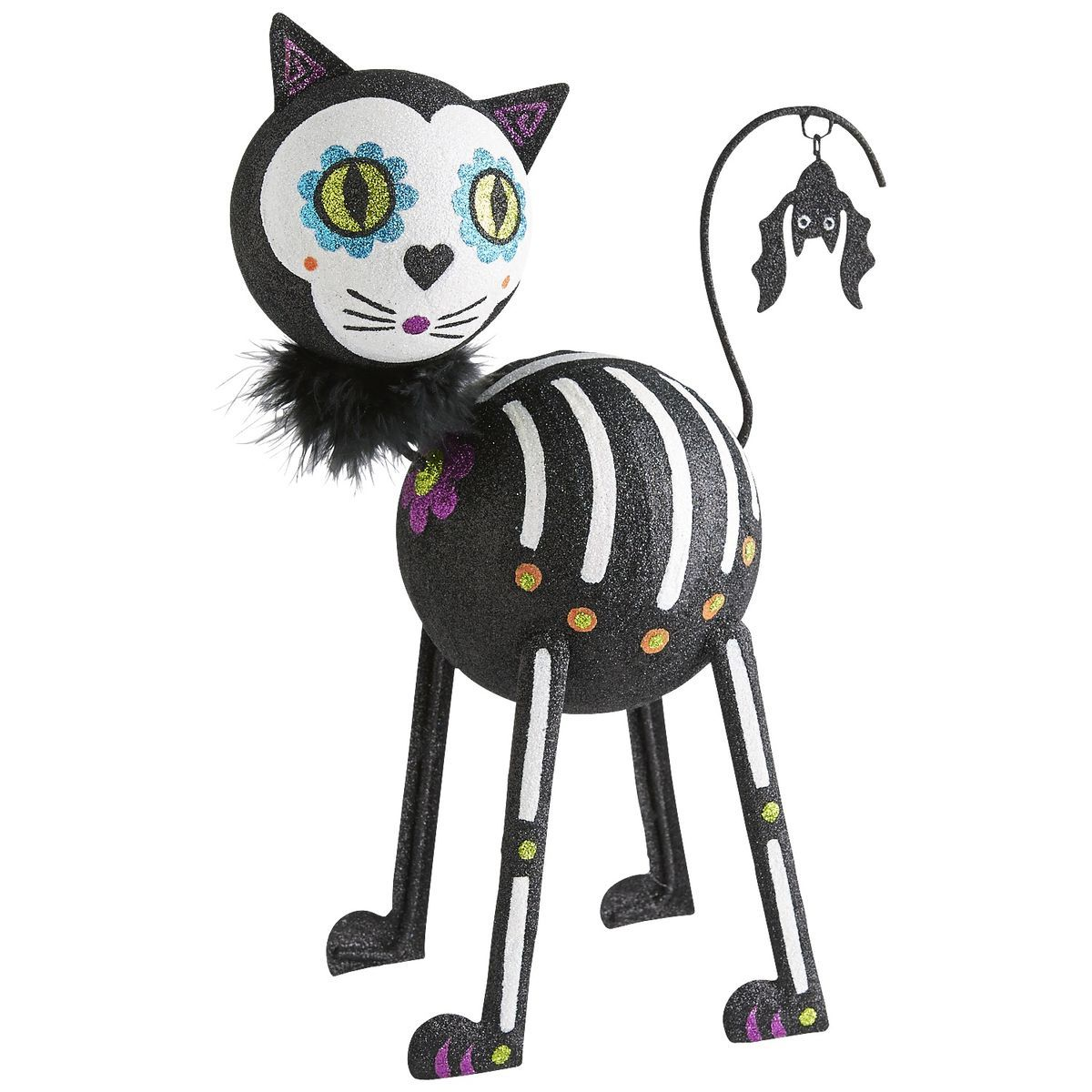 Glitter Skeleton Cat | Pier 1 Imports  sc 1 st  Pinterest & Glitter Skeleton Cat | Pier 1 Imports | Halloween | Pinterest ...