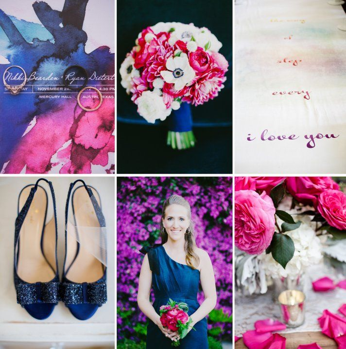 Fuchsia Violet Paired With Elegant Navy And Cream