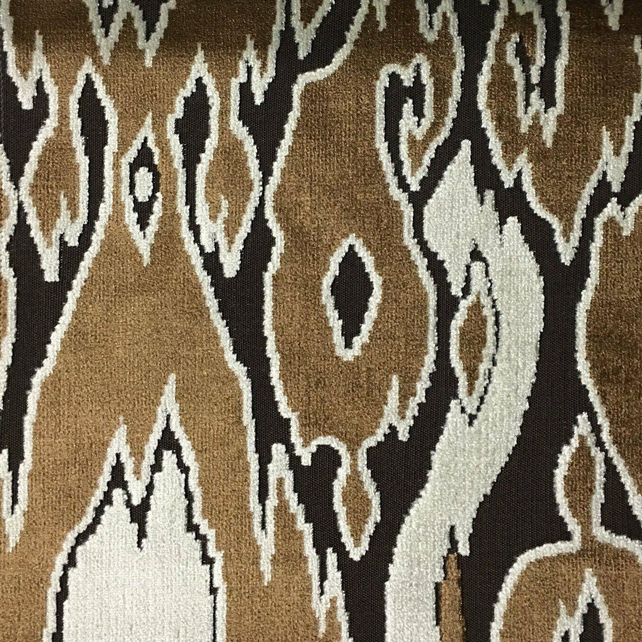 Indigo Velvet Upholstery Fabric Leopard Print Cut Velvet Home Decor Upholstery Fabric by the Yard Hendrix Available in 15 Colors