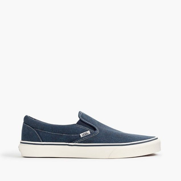 da9ba4203 men's vans® for j.crew washed canvas classic slip-on sneakers | What ...