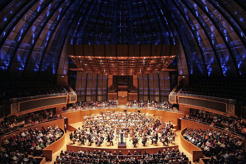 """Concert Hall """"Tonhalle"""", Düsseldorf, Germany,  www.vogelgrafie.de,  www.erco.com"""