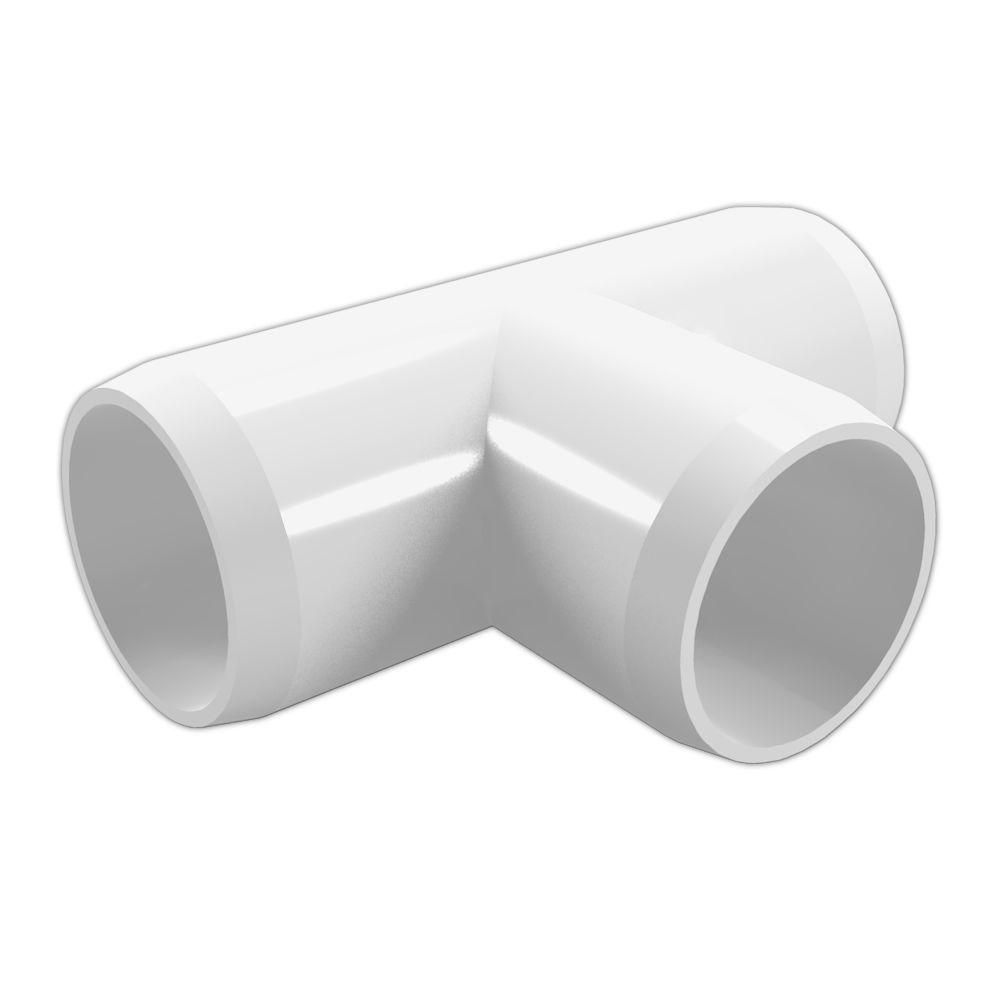 Formufit 1 2 In Furniture Grade Pvc Tee In White 10 Pack F012tee Wh 10 The Home Depot Furniture Grade Pvc Pvc Fittings Pvc