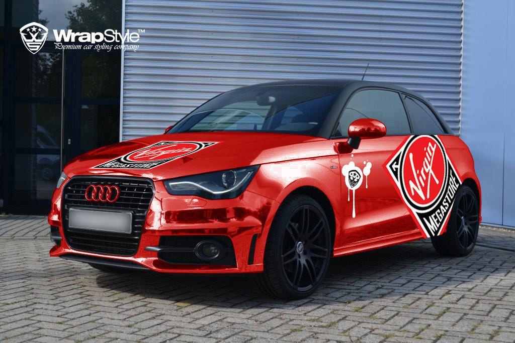 Audi A1 Red Chrome Front Side Car Wrap Car Mods Car Car