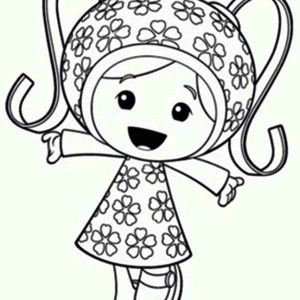 team umizoomi milli is so happy in team umizoomi coloring page