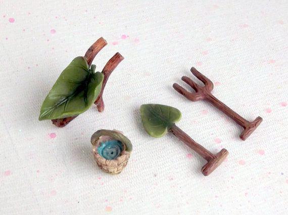 Fairy Garden Accessories Fairy Garden Tools by MerryElfmas. Fairy Garden Accessories  Fairy Garden Tools  Miniature Garden