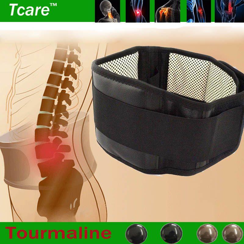 * Tcare 조절 전기석 자기 발열 자석 치료 허리 지원 벨트 허리 허리 중괄호 더블 밴드 건강