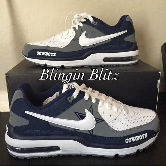 Dallas Cowboys Nike AirMax by BlinginBlitz on Etsy  5a84ae94d