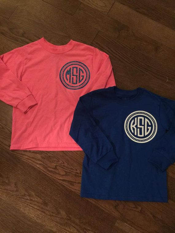 Tee Shirt With A Cute Pocket Size Monogram With By 2hencrafthouse