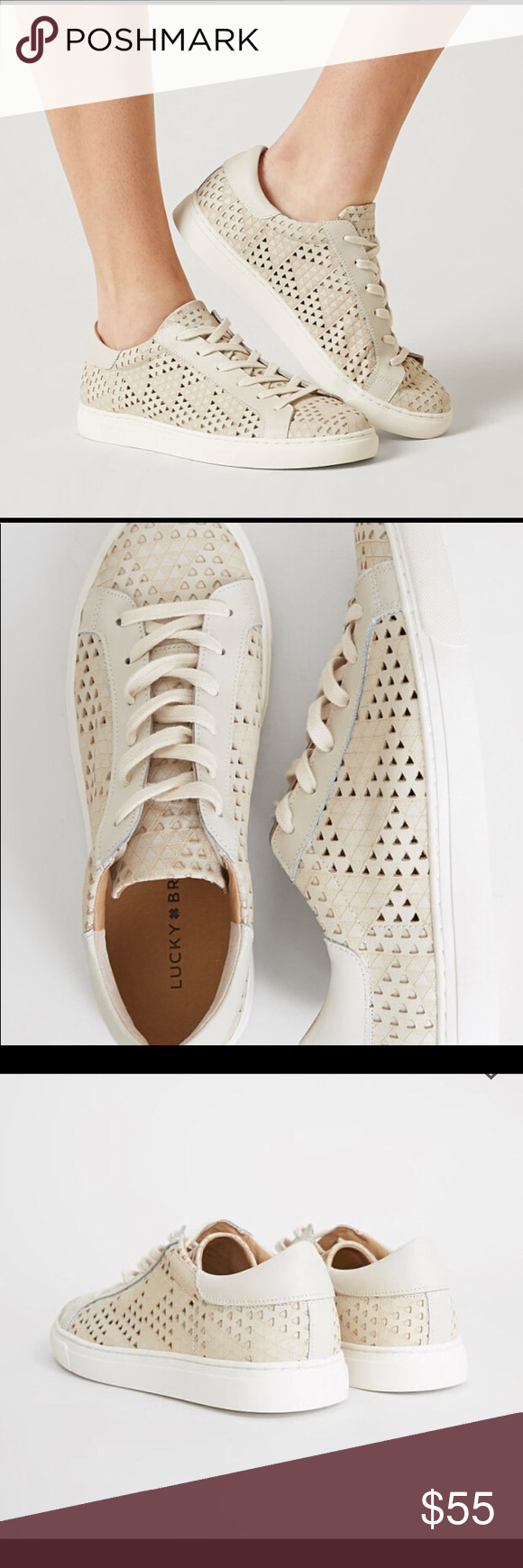 c39bb1f7 Women's Lucky Brand Lotus Sneakers Lucky Brand Women's Sneakers Brand new  Size 8 M Seashell leather Will ship within 24 hrs. Lucky Brand Shoes  Sneakers